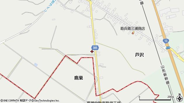 山形県尾花沢市芦沢1321周辺の地図