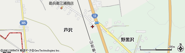 山形県尾花沢市芦沢3周辺の地図