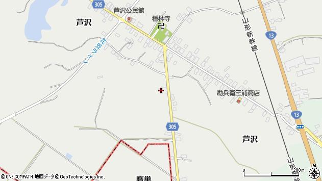 山形県尾花沢市芦沢115周辺の地図
