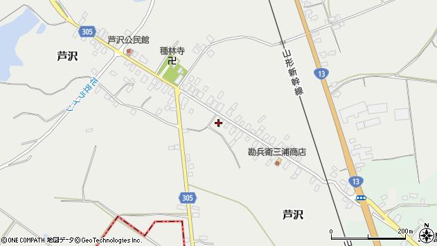 山形県尾花沢市芦沢88周辺の地図