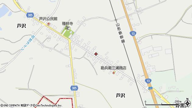 山形県尾花沢市芦沢71周辺の地図