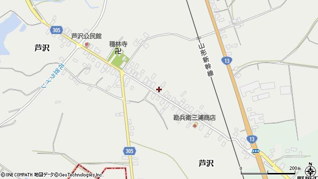 山形県尾花沢市芦沢85周辺の地図