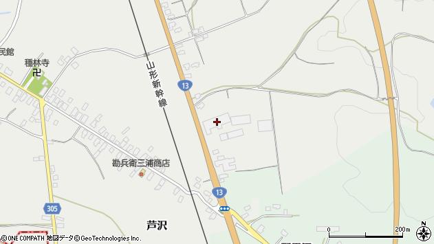山形県尾花沢市芦沢30周辺の地図