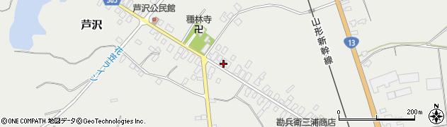 山形県尾花沢市芦沢122周辺の地図