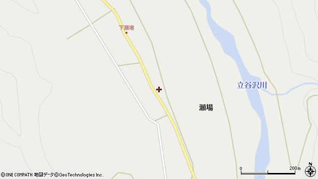 山形県東田川郡庄内町立谷沢瀬場75周辺の地図