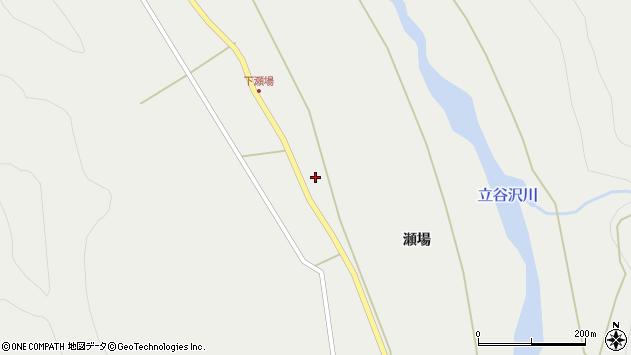 山形県東田川郡庄内町立谷沢瀬場87周辺の地図