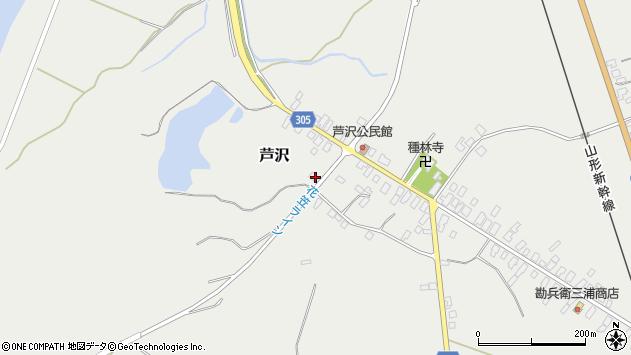 山形県尾花沢市芦沢166周辺の地図