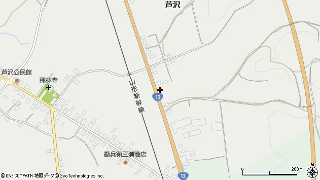 山形県尾花沢市芦沢1107周辺の地図