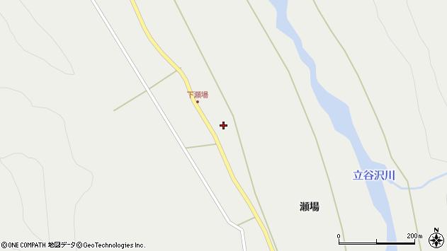 山形県東田川郡庄内町立谷沢瀬場90周辺の地図