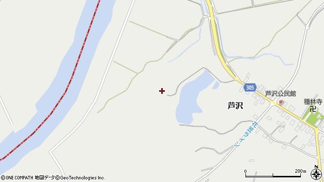 山形県尾花沢市芦沢967周辺の地図