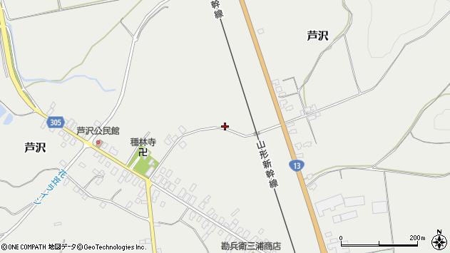山形県尾花沢市芦沢799周辺の地図