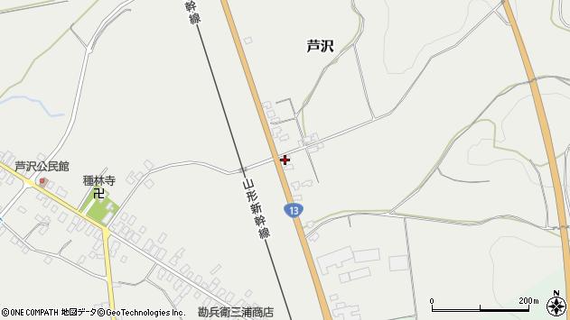 山形県尾花沢市芦沢1102周辺の地図