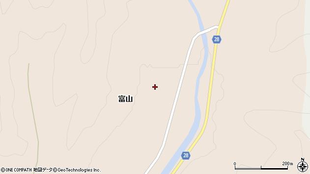 山形県尾花沢市富山関谷周辺の地図