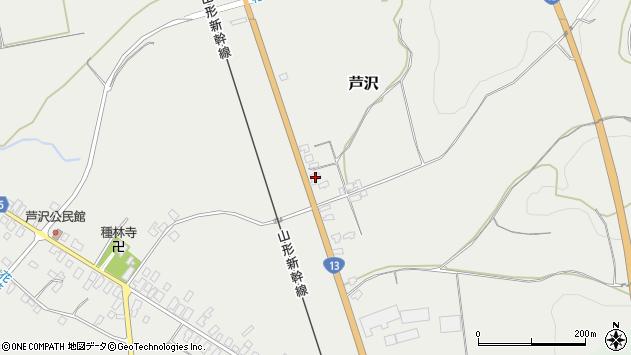 山形県尾花沢市芦沢1130周辺の地図