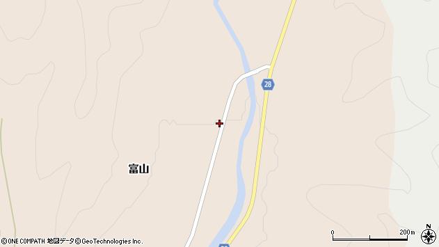 山形県尾花沢市富山77周辺の地図