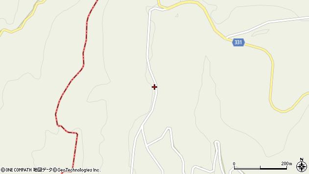 山形県最上郡大蔵村南山348周辺の地図
