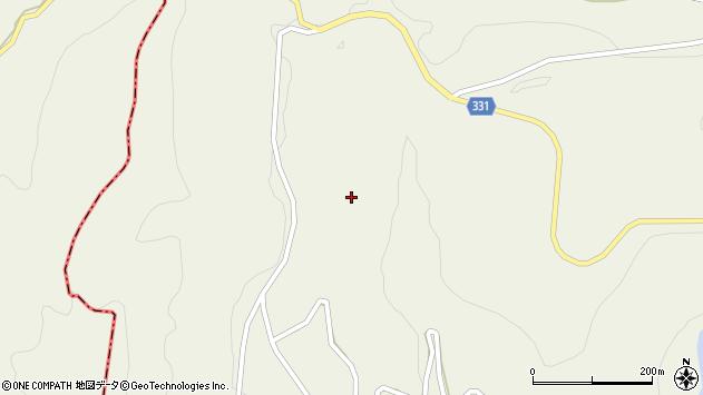 山形県最上郡大蔵村南山柳渕周辺の地図