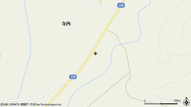 山形県尾花沢市寺内850周辺の地図