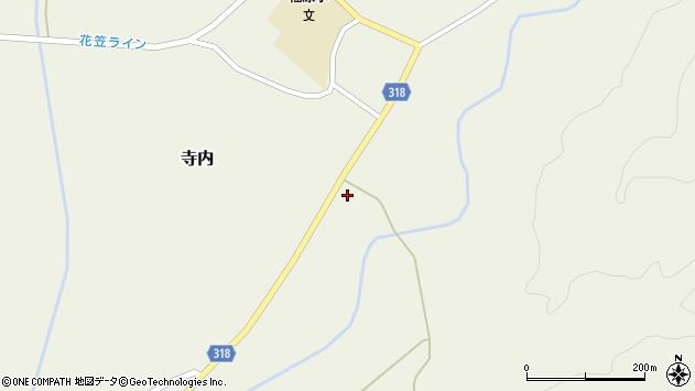 山形県尾花沢市寺内836周辺の地図