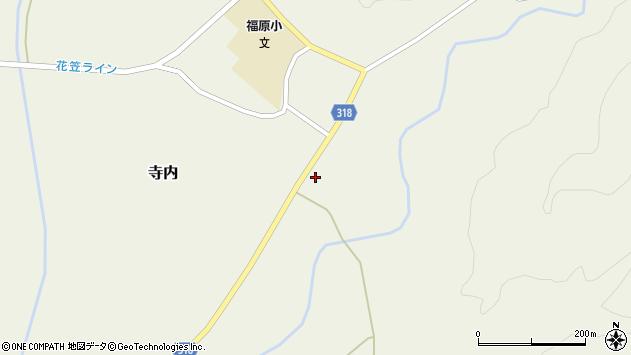 山形県尾花沢市寺内834周辺の地図