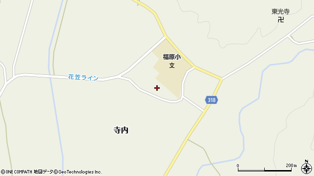 山形県尾花沢市寺内1232周辺の地図