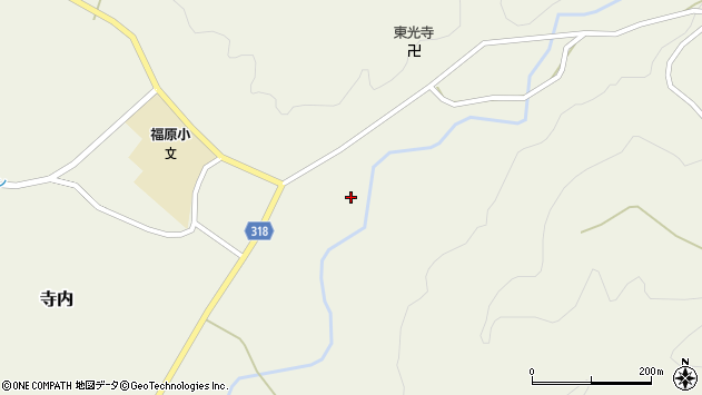 山形県尾花沢市寺内726周辺の地図