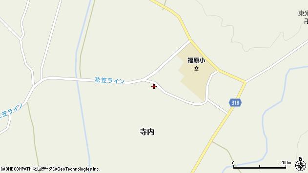 山形県尾花沢市寺内1218周辺の地図