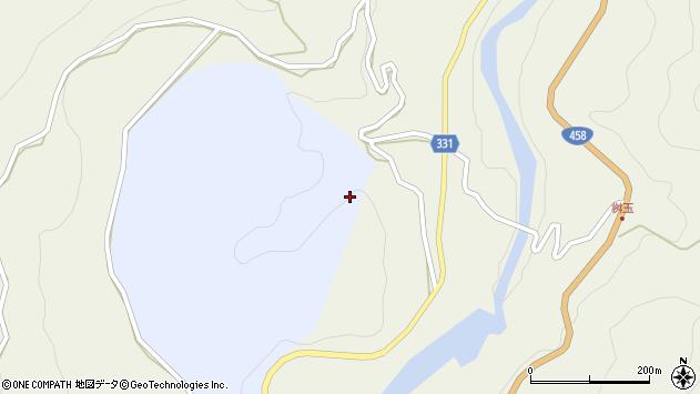 山形県最上郡大蔵村赤松升玉周辺の地図