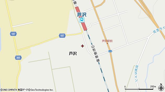 山形県尾花沢市芦沢977周辺の地図