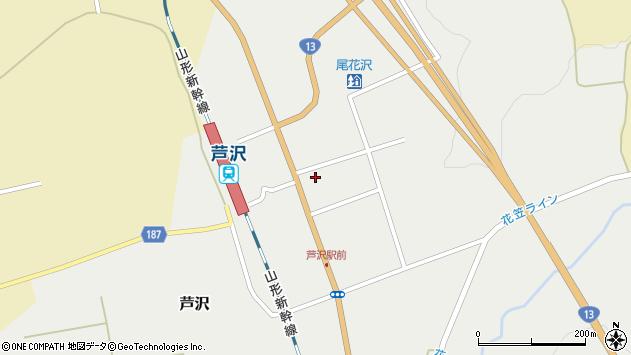 山形県尾花沢市芦沢1202周辺の地図