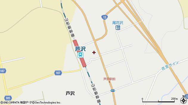 山形県尾花沢市芦沢1204周辺の地図