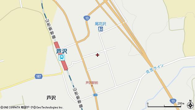 山形県尾花沢市芦沢1200周辺の地図