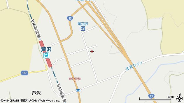 山形県尾花沢市芦沢1203周辺の地図