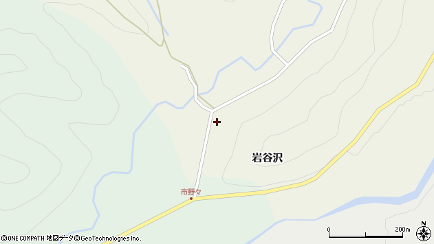 山形県尾花沢市岩谷沢25周辺の地図