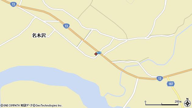 山形県尾花沢市名木沢102周辺の地図