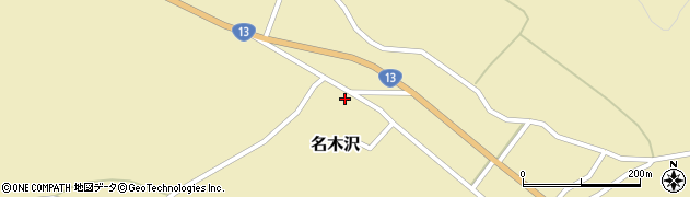 山形県尾花沢市名木沢46周辺の地図