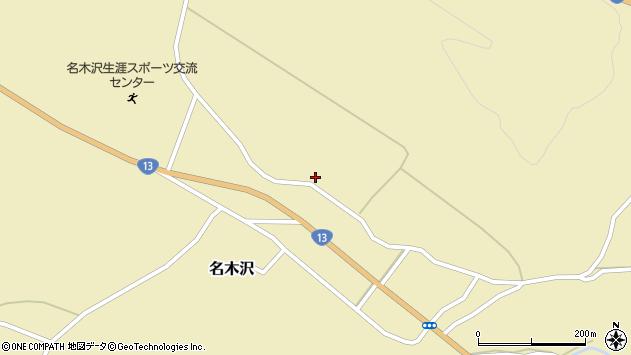 山形県尾花沢市名木沢1682周辺の地図