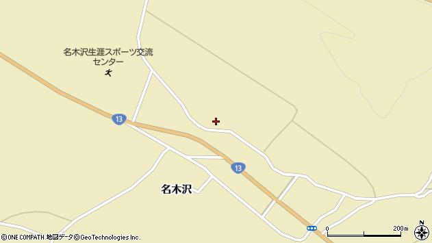 山形県尾花沢市名木沢29周辺の地図