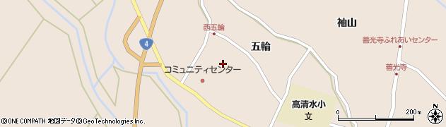 宮城県栗原市高清水五輪周辺の地図