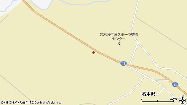山形県尾花沢市名木沢843周辺の地図