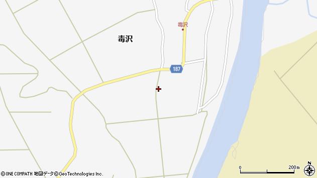 山形県尾花沢市毒沢749周辺の地図