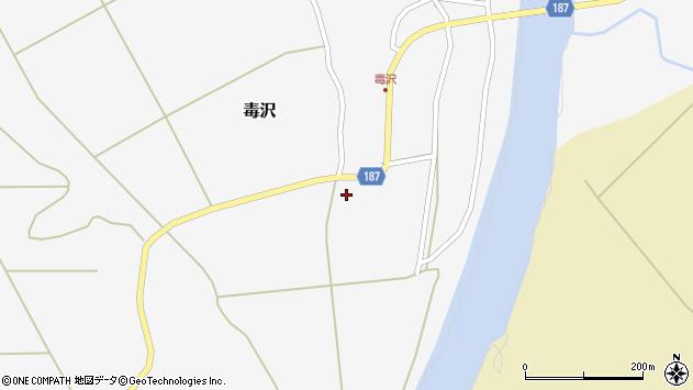 山形県尾花沢市毒沢756周辺の地図