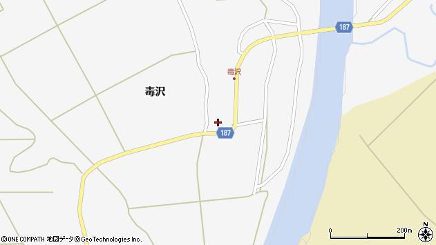 山形県尾花沢市毒沢758周辺の地図