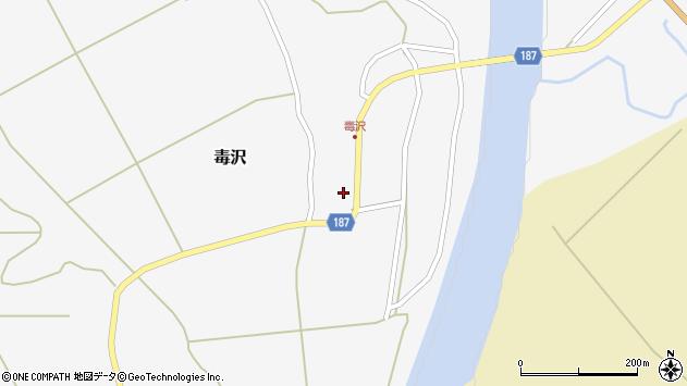 山形県尾花沢市毒沢759周辺の地図