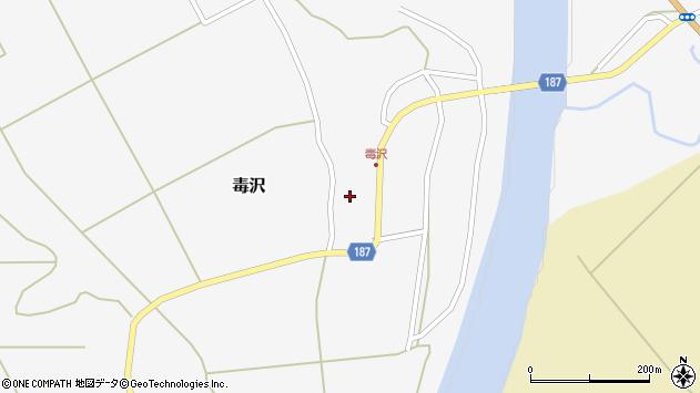 山形県尾花沢市毒沢761周辺の地図