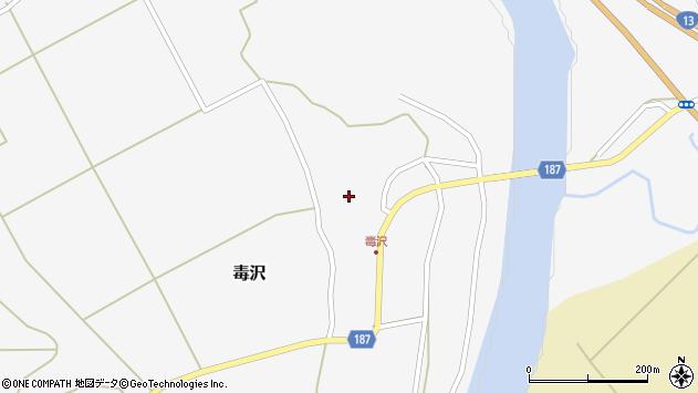山形県尾花沢市毒沢768周辺の地図