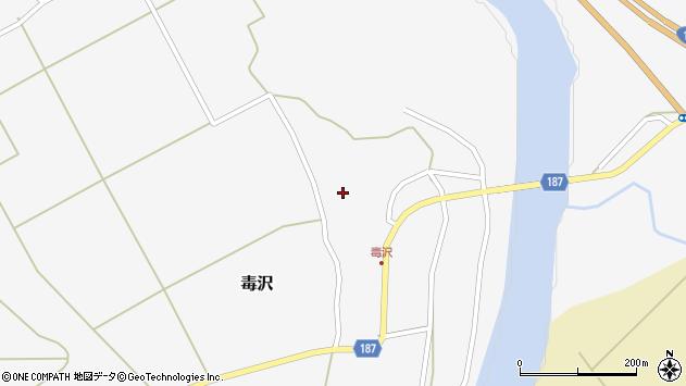 山形県尾花沢市毒沢771周辺の地図