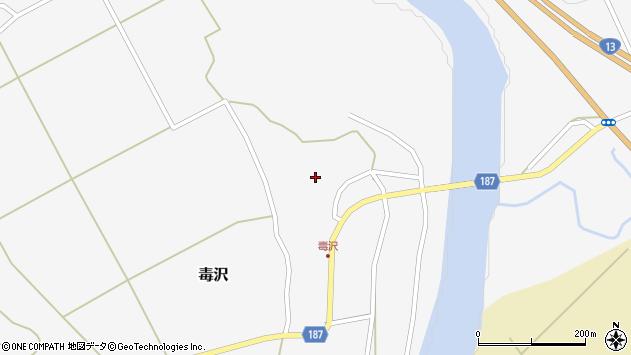 山形県尾花沢市毒沢782周辺の地図