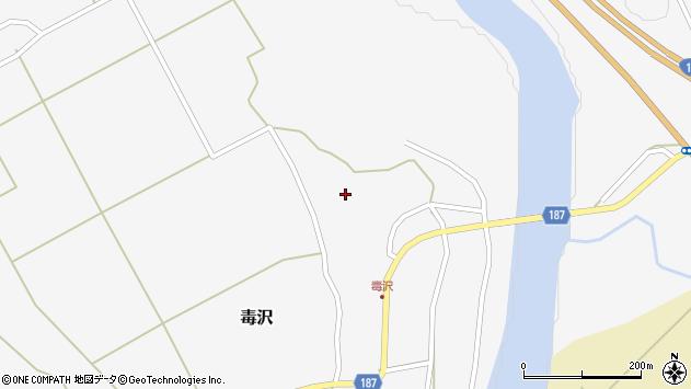 山形県尾花沢市毒沢778周辺の地図