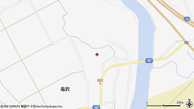 山形県尾花沢市毒沢786周辺の地図